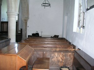 pews before removal