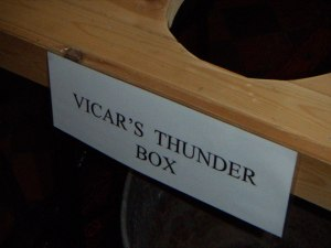 vicar's thunderbox