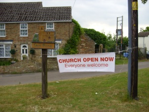 church open at Great Paxton