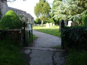 gates into GP churchyard june 11th 09