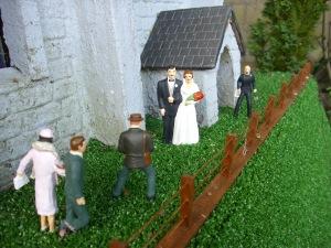 model railway wedding