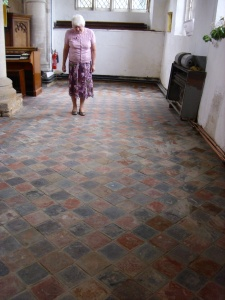 pam and tiles north aisle july 26th 09
