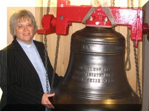 Annette with the new bell amended