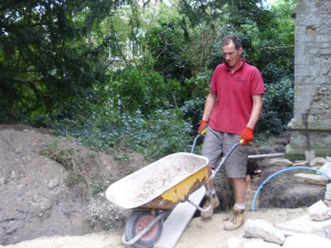 Aug 24th Day 9 - Glenn and wheelbarrow