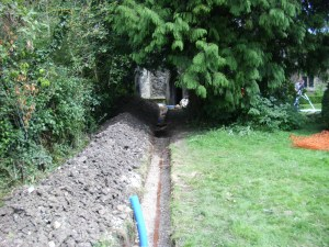 August 24th Day 9 - trench leading into tower base 2