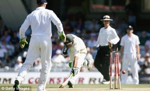 flintoff runs out Ponting