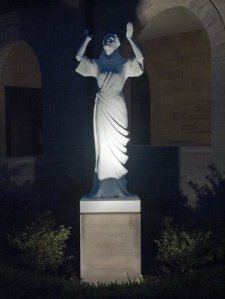 Saint Monica Church, in Creve Coeur, Missouri - statue of Saint Monica