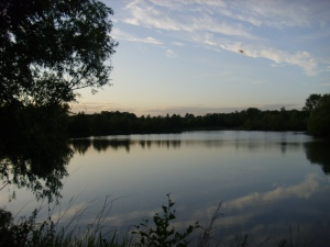sunset at paxton pits