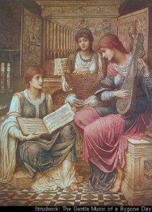 The gentle music of a bygone day - John Strudwick