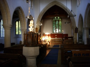 sept 10th 6.15pm light in the nave