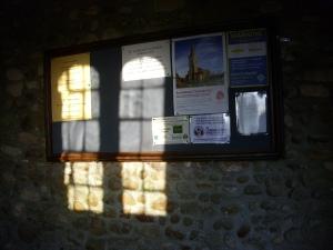 Sept 10th 6pm new notice board in porch