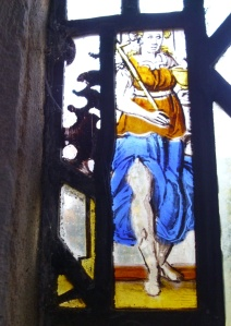 sept 10th south chapel east window - lady with leg