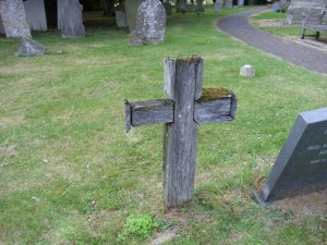 wooden cross of vagrant woman