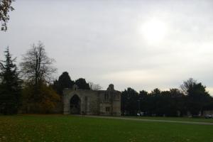 gatehouse across green