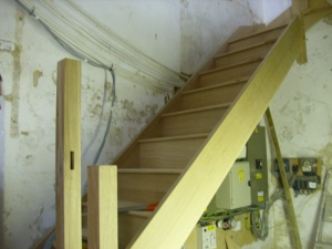 October 15th the new staircase