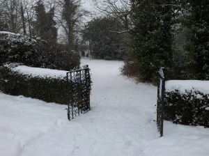 Great PAxton snow gates Jan 20th 2013