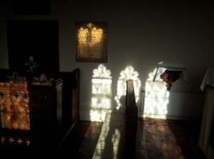 sunlight in LP church Jan 27th 2013